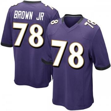 Youth Nike Baltimore Ravens Orlando Brown Jr. Purple Team Color Jersey - Game