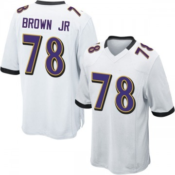 Youth Nike Baltimore Ravens Orlando Brown Jr. White Jersey - Game