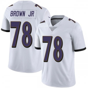 Youth Nike Baltimore Ravens Orlando Brown Jr. White Vapor Untouchable Jersey - Limited