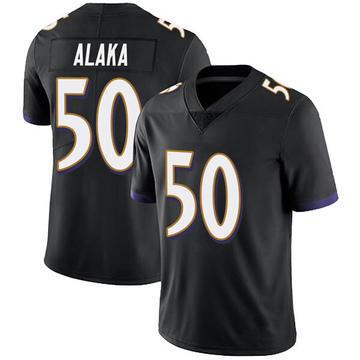 Youth Nike Baltimore Ravens Otaro Alaka Black Alternate Vapor Untouchable Jersey - Limited