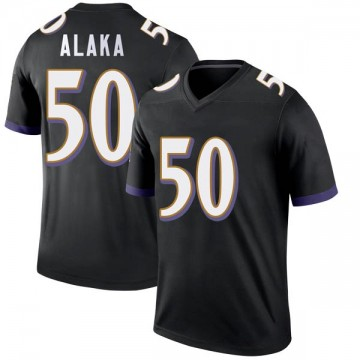 Youth Nike Baltimore Ravens Otaro Alaka Black Jersey - Legend