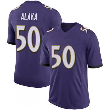 Youth Nike Baltimore Ravens Otaro Alaka Purple 100th Vapor Jersey - Limited