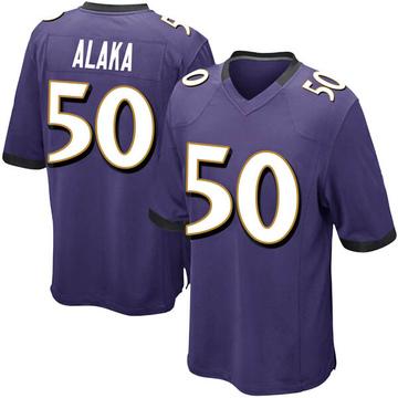 Youth Nike Baltimore Ravens Otaro Alaka Purple Team Color Jersey - Game