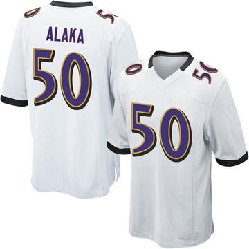 Youth Nike Baltimore Ravens Otaro Alaka White Jersey - Game