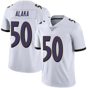 Youth Nike Baltimore Ravens Otaro Alaka White Vapor Untouchable Jersey - Limited
