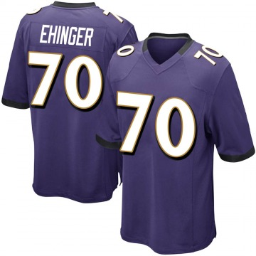 Youth Nike Baltimore Ravens Parker Ehinger Purple Team Color Jersey - Game