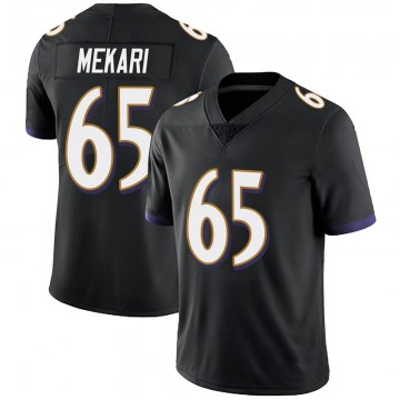 Youth Nike Baltimore Ravens Patrick Mekari Black Alternate Vapor Untouchable Jersey - Limited