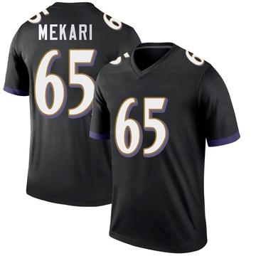 Youth Nike Baltimore Ravens Patrick Mekari Black Jersey - Legend