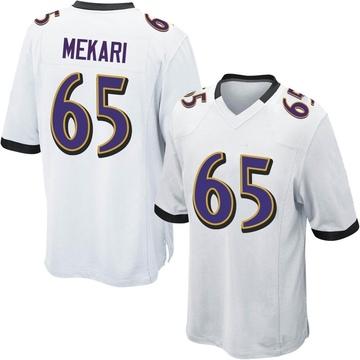 Youth Nike Baltimore Ravens Patrick Mekari White Jersey - Game