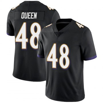Youth Nike Baltimore Ravens Patrick Queen Black Alternate Vapor Untouchable Jersey - Limited
