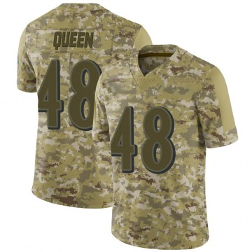 Youth Nike Baltimore Ravens Patrick Queen Camo 2018 Salute to Service Jersey - Limited