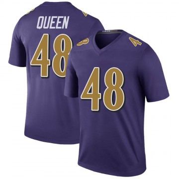 Youth Nike Baltimore Ravens Patrick Queen Purple Color Rush Jersey - Legend