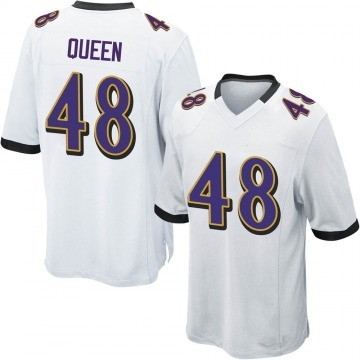 Youth Nike Baltimore Ravens Patrick Queen White Jersey - Game