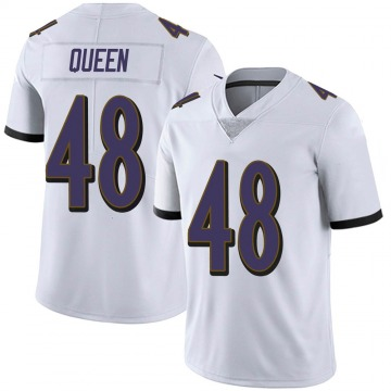 Youth Nike Baltimore Ravens Patrick Queen White Vapor Untouchable Jersey - Limited