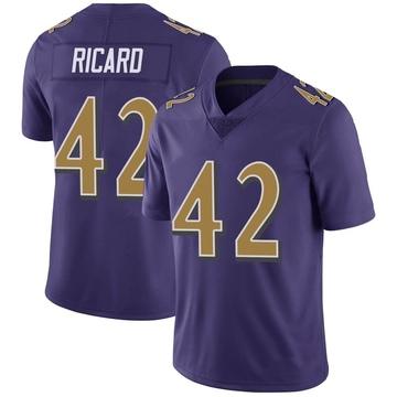 Youth Nike Baltimore Ravens Patrick Ricard Purple Color Rush Vapor Untouchable Jersey - Limited