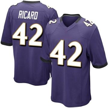 Youth Nike Baltimore Ravens Patrick Ricard Purple Team Color Jersey - Game