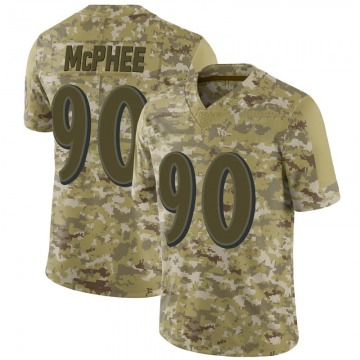 Youth Nike Baltimore Ravens Pernell McPhee Camo 2018 Salute to Service Jersey - Limited