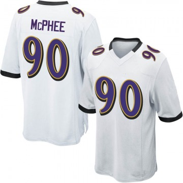 Youth Nike Baltimore Ravens Pernell McPhee White Jersey - Game