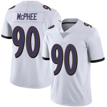 Youth Nike Baltimore Ravens Pernell McPhee White Vapor Untouchable Jersey - Limited