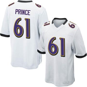 Youth Nike Baltimore Ravens R.J. Prince White Jersey - Game