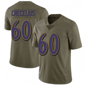 Youth Nike Baltimore Ravens Randin Crecelius Green 2017 Salute to Service Jersey - Limited