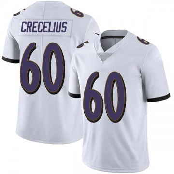 Youth Nike Baltimore Ravens Randin Crecelius White Vapor Untouchable Jersey - Limited