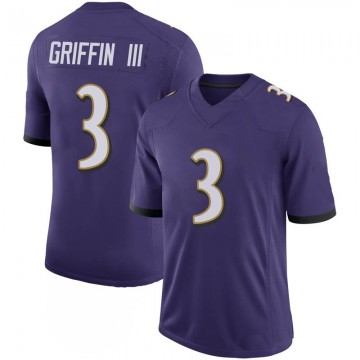 Youth Nike Baltimore Ravens Robert Griffin III Purple 100th Vapor Jersey - Limited