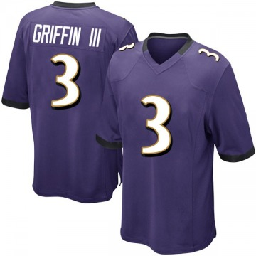 Youth Nike Baltimore Ravens Robert Griffin III Purple Team Color Jersey - Game