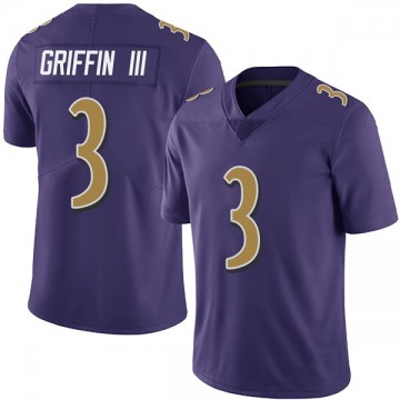 Youth Nike Baltimore Ravens Robert Griffin III Purple Team Color Vapor Untouchable Jersey - Limited