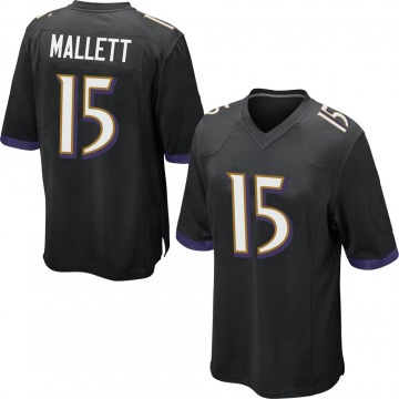 Youth Nike Baltimore Ravens Ryan Mallett Black Jersey - Game