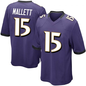 Youth Nike Baltimore Ravens Ryan Mallett Purple Team Color Jersey - Game