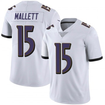 Youth Nike Baltimore Ravens Ryan Mallett White Vapor Untouchable Jersey - Limited