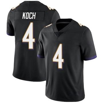 Youth Nike Baltimore Ravens Sam Koch Black Alternate Vapor Untouchable Jersey - Limited