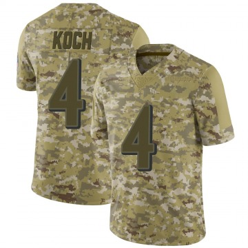 Youth Nike Baltimore Ravens Sam Koch Camo 2018 Salute to Service Jersey - Limited