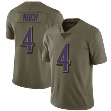 Youth Nike Baltimore Ravens Sam Koch Green 2017 Salute to Service Jersey - Limited