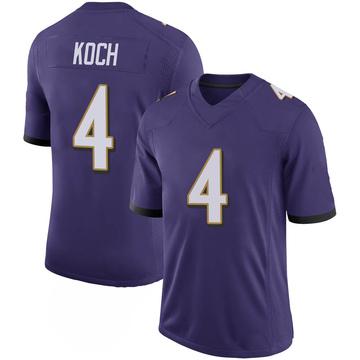 Youth Nike Baltimore Ravens Sam Koch Purple 100th Vapor Jersey - Limited
