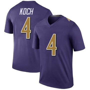 Youth Nike Baltimore Ravens Sam Koch Purple Color Rush Jersey - Legend