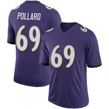 Youth Nike Baltimore Ravens Sean Pollard Purple 100th Vapor Jersey - Limited