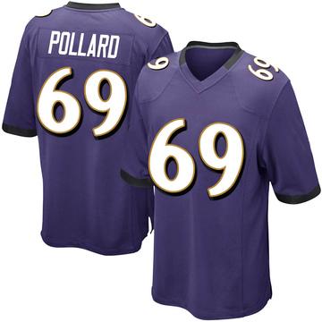 Youth Nike Baltimore Ravens Sean Pollard Purple Team Color Jersey - Game