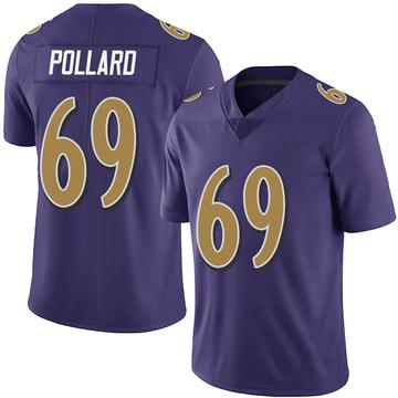 Youth Nike Baltimore Ravens Sean Pollard Purple Team Color Vapor Untouchable Jersey - Limited
