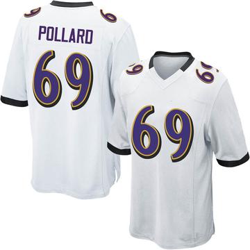 Youth Nike Baltimore Ravens Sean Pollard White Jersey - Game