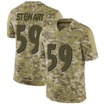 Youth Nike Baltimore Ravens Silas Stewart Camo 2018 Salute to Service Jersey - Limited