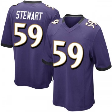 Youth Nike Baltimore Ravens Silas Stewart Purple Team Color Jersey - Game