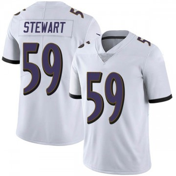 Youth Nike Baltimore Ravens Silas Stewart White Vapor Untouchable Jersey - Limited