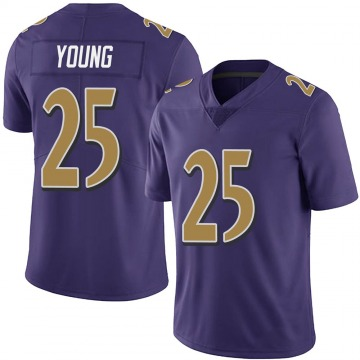 Youth Nike Baltimore Ravens Tavon Young Purple Team Color Vapor Untouchable Jersey - Limited