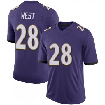 Youth Nike Baltimore Ravens Terrance West Purple 100th Vapor Jersey - Limited