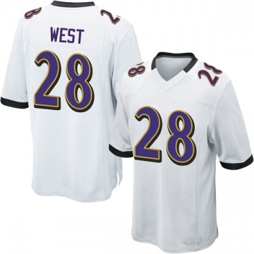 Youth Nike Baltimore Ravens Terrance West White Jersey - Game