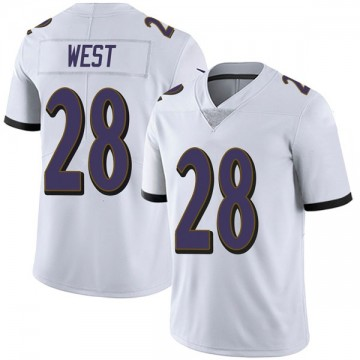 Youth Nike Baltimore Ravens Terrance West White Vapor Untouchable Jersey - Limited