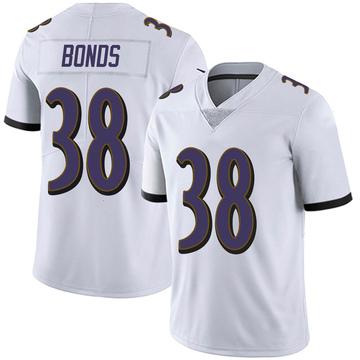 Youth Nike Baltimore Ravens Terrell Bonds White Vapor Untouchable Jersey - Limited