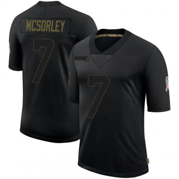 Youth Nike Baltimore Ravens Trace McSorley Black 2020 Salute To Service Jersey - Limited